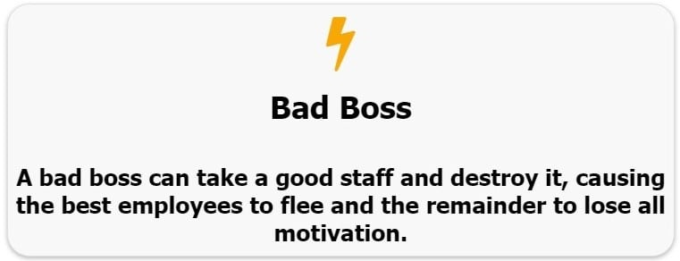 bad boss, horrible boss, terrible boss, boss from hell